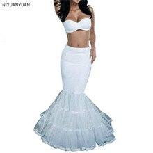 Модные женские юбки Русалка Белый 1-Hoop формальная Пышная юбка с подъюбником кринолин юбка Слип атласная Длина до пола
