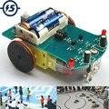 D2-1 diy kit inteligente linha de rastreamento kit carro inteligente tt motor eletrônico diy kit patrulha inteligente peças automóvel diy eletrônico