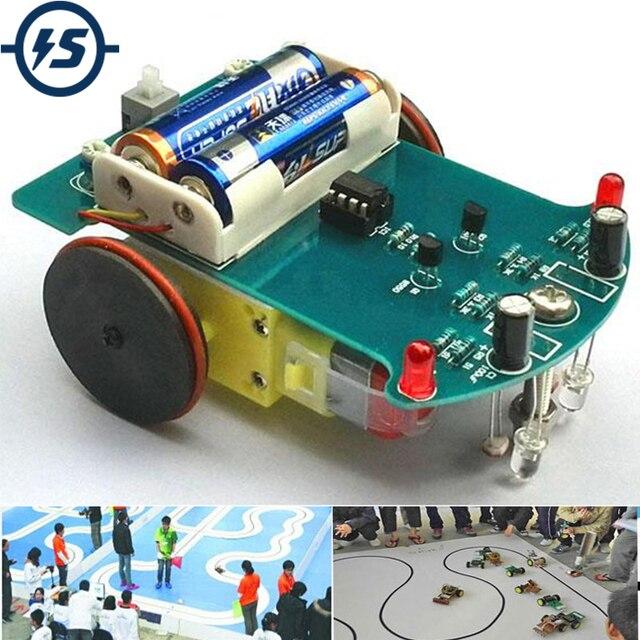 Kit de linha de rastreamento inteligente diy, kit para carros eletrônicos de rastreamento inteligente, diy, peças eletrônicas, D2 1
