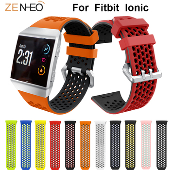 For Fitbit Ionic breathable soft Silicone watches band wrist strap Replacement for Fitbit ionic Bracelet Wristband watch straps band for fitbit ionic soft silicone replacement sport band strap for fitbit ionic smart fitness watch band sport high quality
