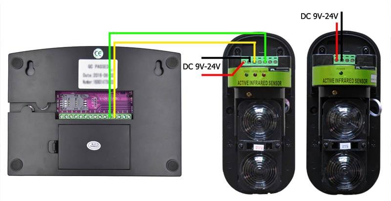 Wired wireless beam detector