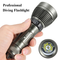 Professional Diving Flashlight 5000LM Waterproof 100M Underwater CREE XML T6 LED Flashlight Torch Light For Diver