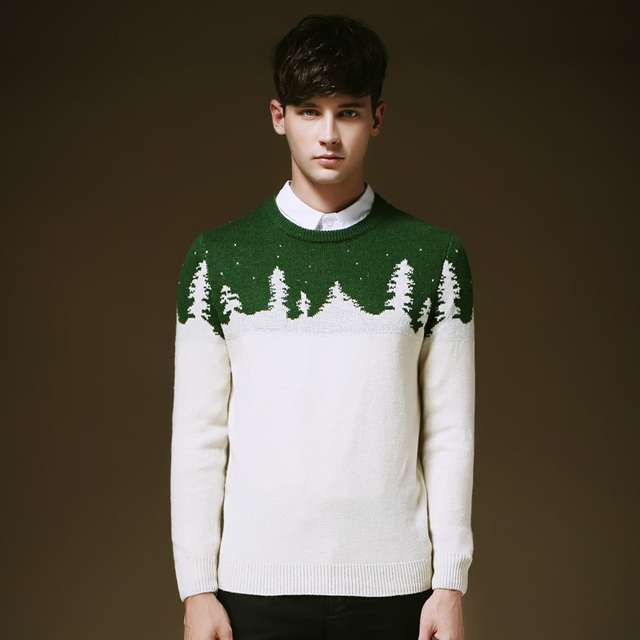 Men Christmas Pullover Sweaters New Hot Korean Style Young Man