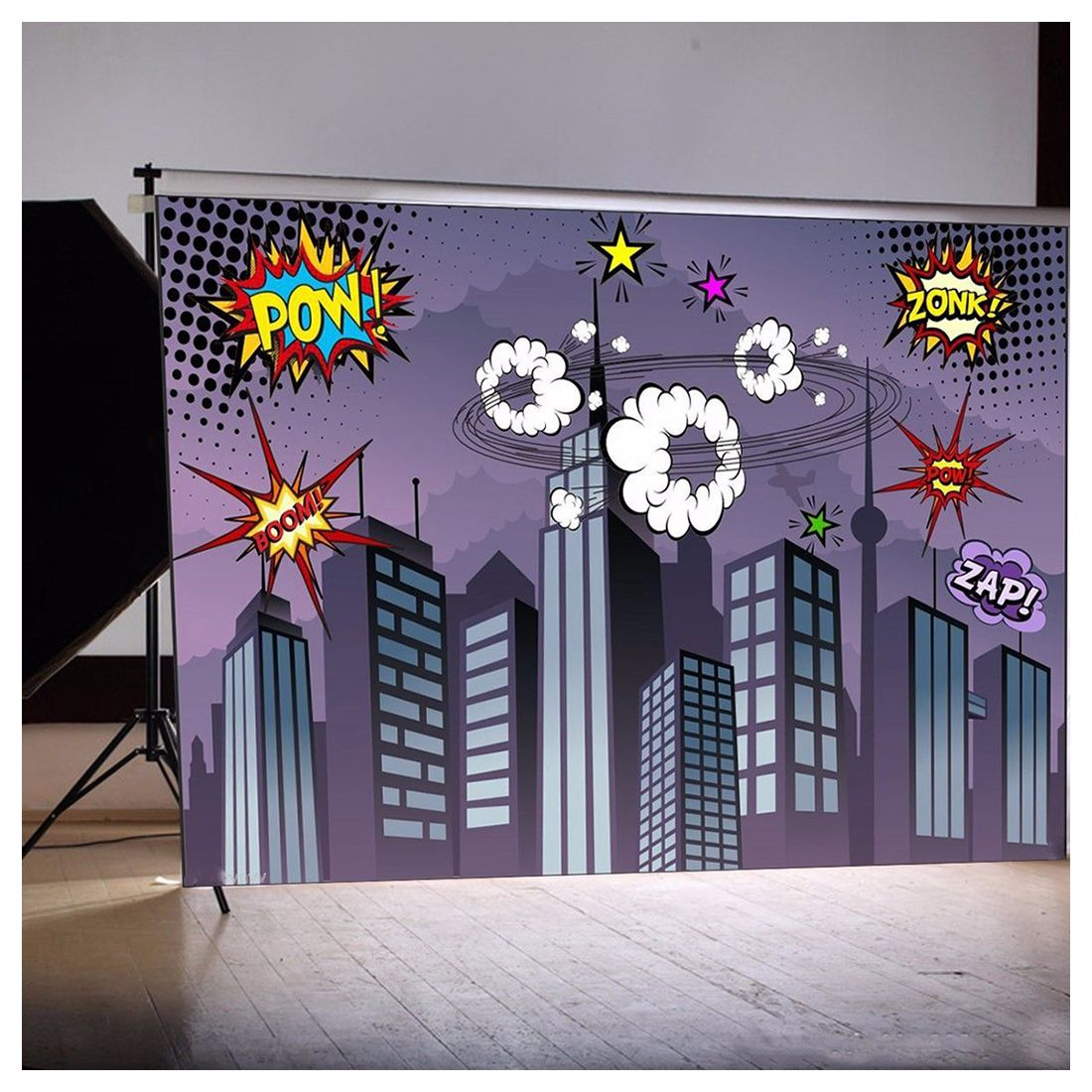 7*5ft City Building Studio Backdrop Photography Party Background
