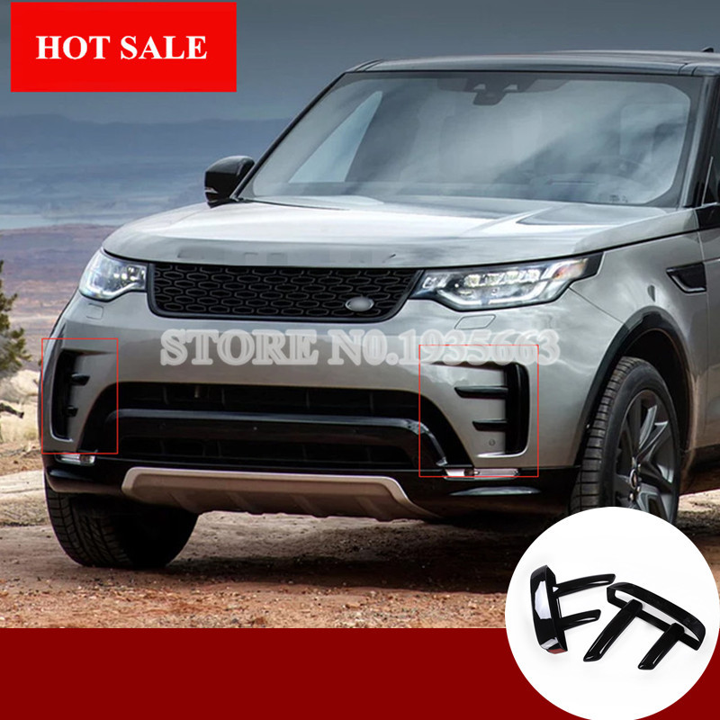 for land rover discovery 5 abs front bumper grille air vent cover 2017 2018 6pcs in interior. Black Bedroom Furniture Sets. Home Design Ideas