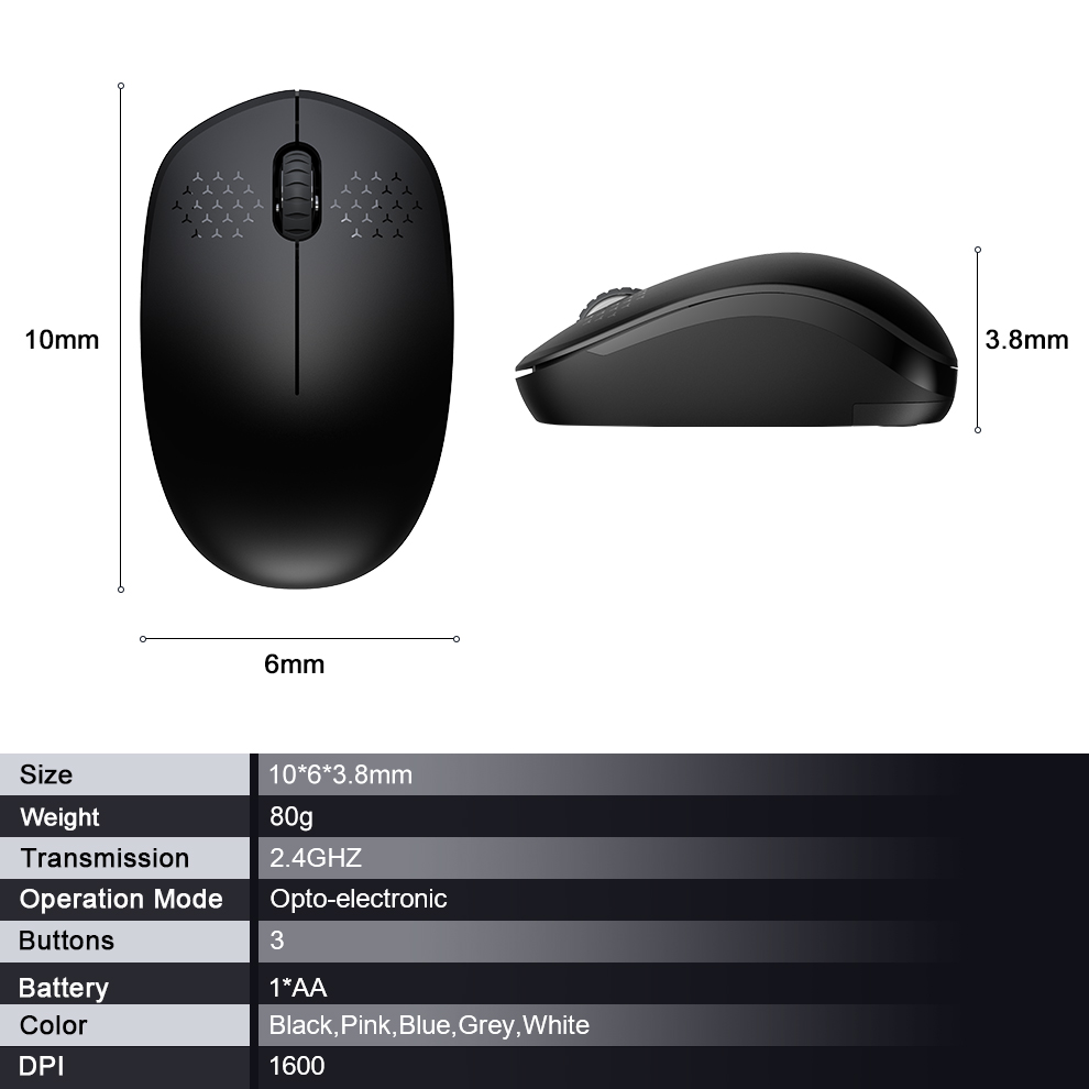 Fbyeg 2.4GHz Wireless Mouse Slient gaming Bluetooth Mini computer Mouse for laptop -7