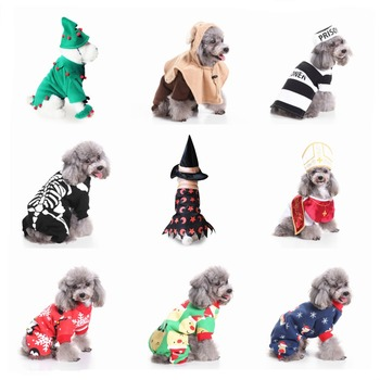 New Hot Dog Clothes For Small Dogs Halloween Costume Puppy Coat Pet Clothes Christmas Cosplay French Bulldog Jacket DropShipping Собака