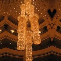 living room dining chandelier light crystal chandelier led lights Modern Lustres Round LED Crystal Chandelier Luminaire lamp