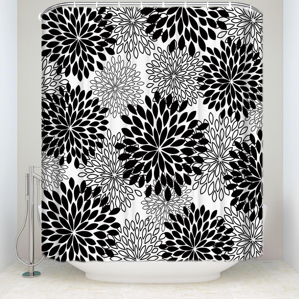 Bath Universe Galaxy Mandala Flower Polyester Fabric Bath