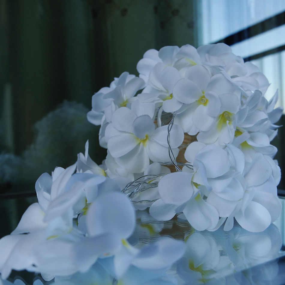 10M 80 flower frangipani LED String Lights,Battery floral holiday light decor, Event Party garland decoration,Bedroom decoration