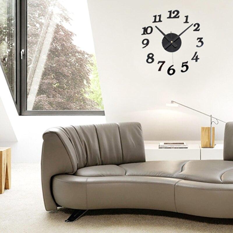 Great moderna d diy orologio da parete faccia orologio - Disegni per parete ...