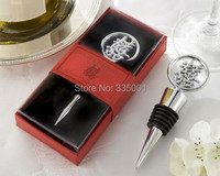 wedding favor gift and giveaways  Double Happiness Bottle Stopper in Asian theme Gift Box party favor souvenir 1 piece