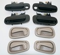 Black Outer Outside Door Handle For Corolla 98-02  Tan Inner Inside 8 Piece Kit Set 6924002030 6924002040 6920502050B1