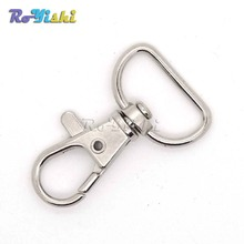 10pcs/pack Matel Snap Hooks Rotary Swivel For Backpack Webbing 20mm Nickel Plated Lobster Clasps