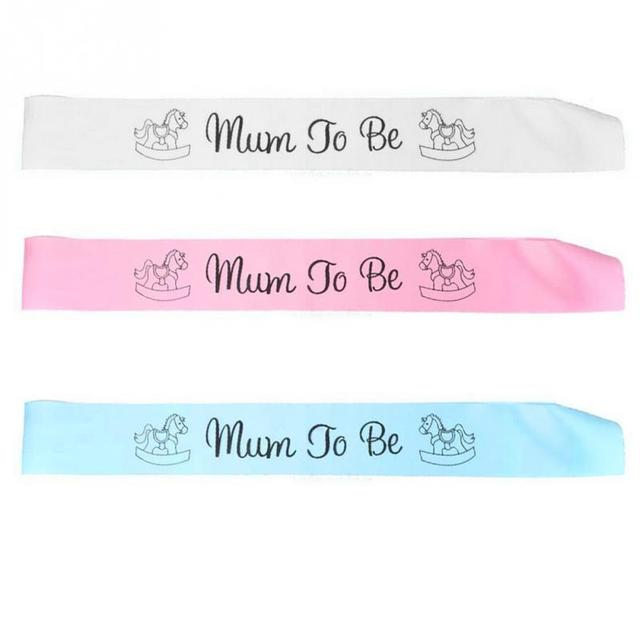 3 Colors Baby Shower Party Satin Ribbon Banner Mum To Be Grandma Auntie  Nanny Sashes Events