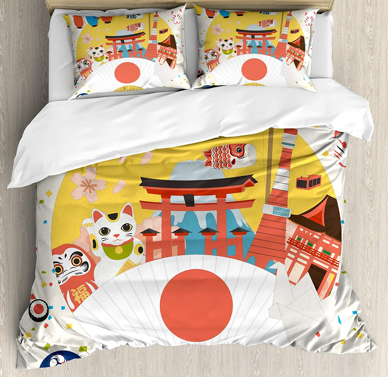 Queen King SUPER King 300TC Bedding House Origami Cotton Quilt Doona Cover Set