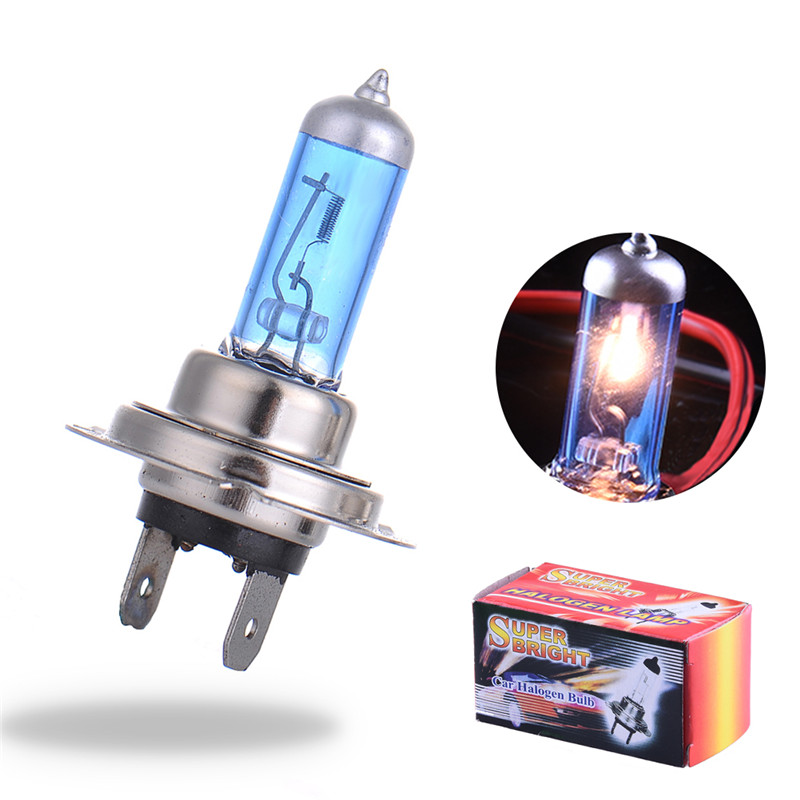 2pcs H7 H4 55W/100W 12V Halogen Bulb Super Xenon White Fog Lights 6000K High Power Car Headlight Lamp Car Light Source parking