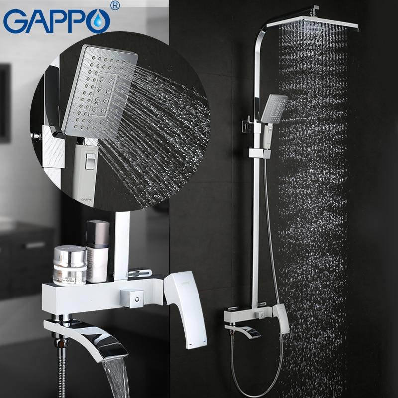 GAPPO Torneira do chuveiro torneiras chuveiro do banheiro conjuntos de chuveiro de chuva de bronze escondida Chuveiro Misturadores faucet da cachoeira griferia