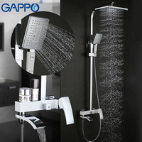 GAPPO dusche Wasserhahn messing dusche armaturen bad regen dusche sets verdeckte Dusche Mischer wasserfall wasserhahn griferia G2407 8-in Dusch-Armaturen aus Heimwerkerbedarf bei