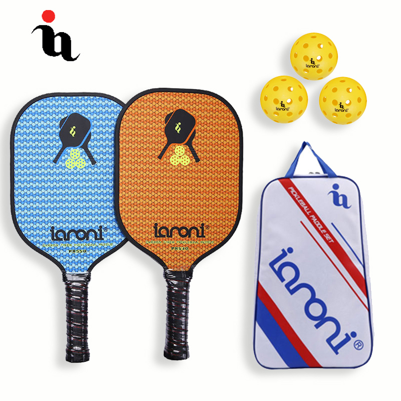 Beliebte Marke Ianoni Pickleball Schläger Set Carbon Faser Zusammensetzung Alu Honeycomb Core Hohe Qualität Eine Pickleball Tasche Zwei Pickleball Paddle Den Menschen In Ihrem TäGlichen Leben Mehr Komfort Bringen
