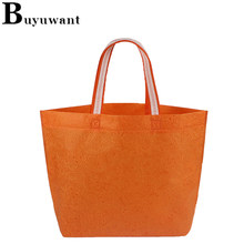 Buyuwant Non woven fabric shoping bag BF03-SP-wfywhb embossed shopping bag environment-friendly non-woven handbag large gift bag(China)