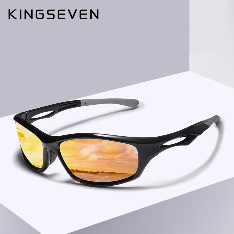KINGSEVEN Men Driving Sunglasses Polarized Mirror Sun Glasses Classic Night Goggles Brand Designer Eyewear UV400 Gafas de sol