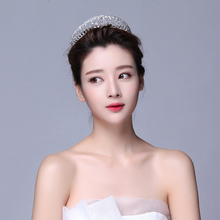 Crystal Crown Tiara Head Jewelry Hair Accessories Diadem Mariage Bijoux De Tete Cheveux Corona Casamento WIGO0720