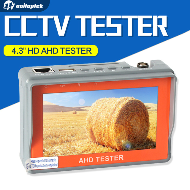 4.3 Inch HD AHD Camera Tester CCTV Tester Monitor AHD 1080P 720P AHD Analog Camera Testing UTP Cable Test 5V/2A, 12V/1A Output