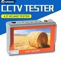 4.3 polegada hd ahd ahd camera tester cctv monitor de testador 1080 P 720 P AHD Câmera Analógica Teste UTP Cabo de Teste 5 V/2A, 12 V/1A Saída