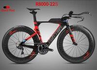 2018 Twitter 22 Speed TT Complete Bike Time Triathlon Bicycle Carbon Frame+40mm Aluminum Wheels+Handlebar+5800/R8000 Groupset