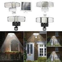 178/188 LED تعمل بالطاقة الشمسية في الهواء الطلق حديقة محس حركة مصباح الفيضانات الأمنية بقعة الأبيض والأسود-في مصابيح الطاقة الشمسية من مصابيح وإضاءات على