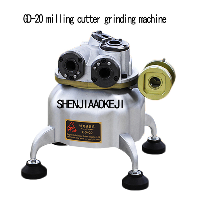 GD-12/GD-20 End mill grinding machine cutter grinder 2/3/4/6 blade edge sharpening machine Portable hardware tools 220V 1
