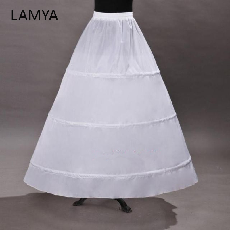 LAMYA Wedding Petticoat Vintage With 3 Hoops Ball Gown Petticoat For Vintage Bustle Aupport Akirt  hoop skirt