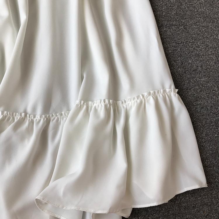 Women Bohemian Dress Lady Half Sleeve V Neck Red and White Beach Holiday Elegant Vestidos E152 31