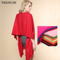 YSDNCHI Autumn Winter Pure Color Pull Cashmere Shawl Women Luxury Brand Scarves Noble And Elegant Female