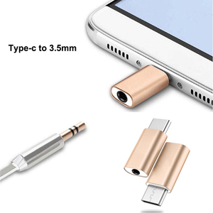Mini Type C to Audio USB C USB 3.1 to 3.5mm AUX Jack Portable Earphone Adapter for Xiaomi 8 for Huawei LeTV 2 Nut pro