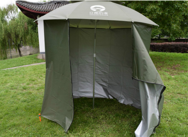 Fishing Umbrella Outdoor 2m Fastener Universal Beach Sunshade Rainproof Sunscreen Shelter All Round Tent Camouflage Nets