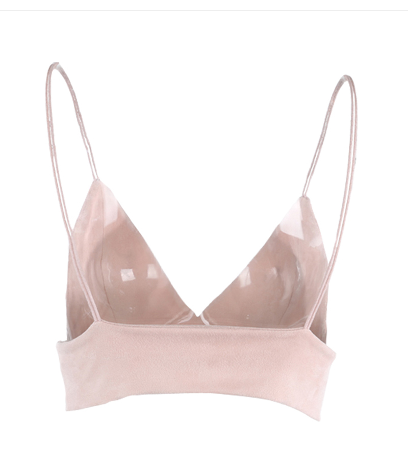 HTB1E5BHPVXXXXbVXXXXq6xXFXXX0 - Summer Bralette Crop Top Sexy Pink Strappy Suede JKP047