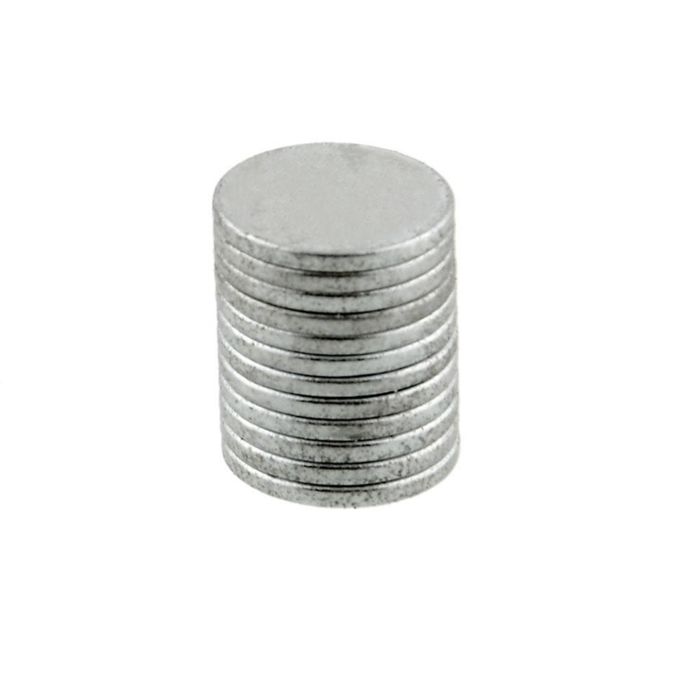 Useful 10pcs Round Super Strong Cuboid Magnets Force Rare Neodymium 10x1mm
