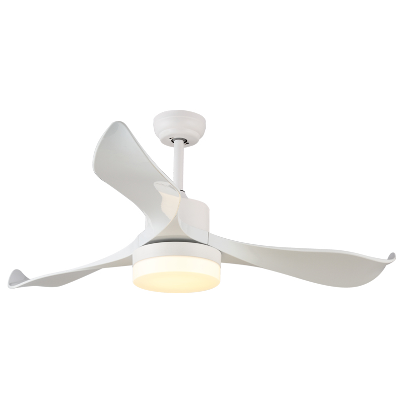 220V Ceiling Fan Light LED Energy Saving Remote Control Ceiling Light Fan 24W Indoor Decor Living Room Tricolor Ceiling Lamp Fan