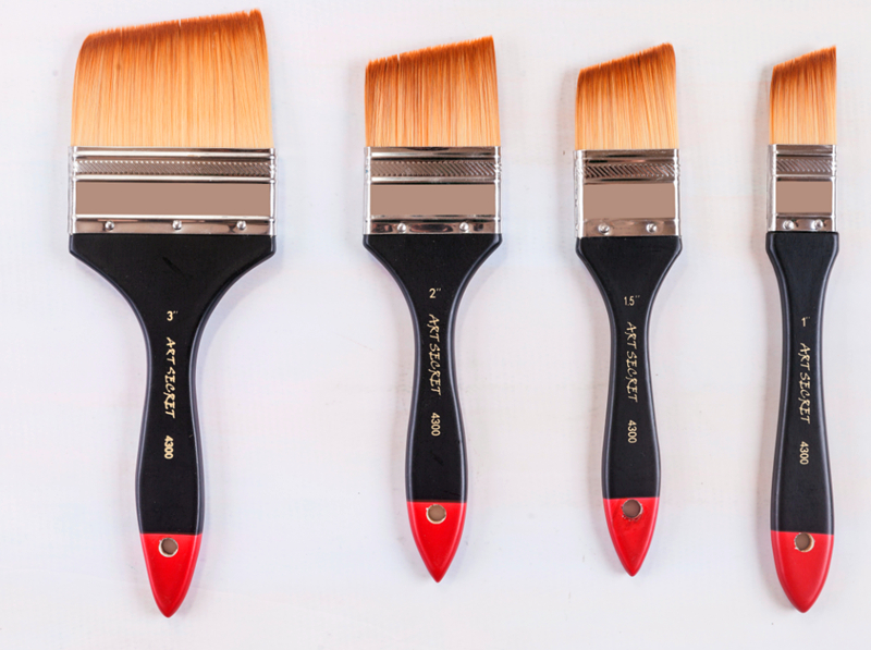 High Quality Korea Taklon Hair Wooden Handle Paint Brushes Artistic Painting Art Brush For Watercolor Acrylic And Oil Drawing
