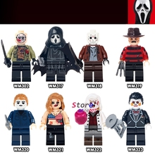 Single The Horror Theme Movie Hockey Guy Hockey Mask Hunter-Black Friday Jason Scream Killer building blocks toys for children
