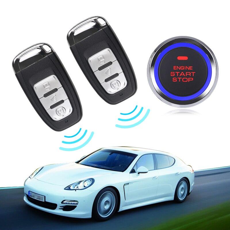 Alarme de voiture entrée sans clé système d'alarme de démarrage du moteur bouton poussoir démarreur à distance arrêt automatique