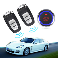 Car Alarm Keyless Entry Engine Start Alarm System Push Button Remote Starter Stop Auto