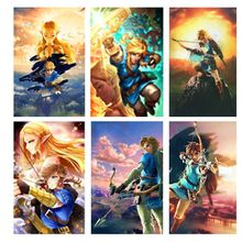 New diamond painting Cartoon The Legend Of Zelda Breath Of The Wild Wall Art Picture full square drill Living Room Wall Decor(China)