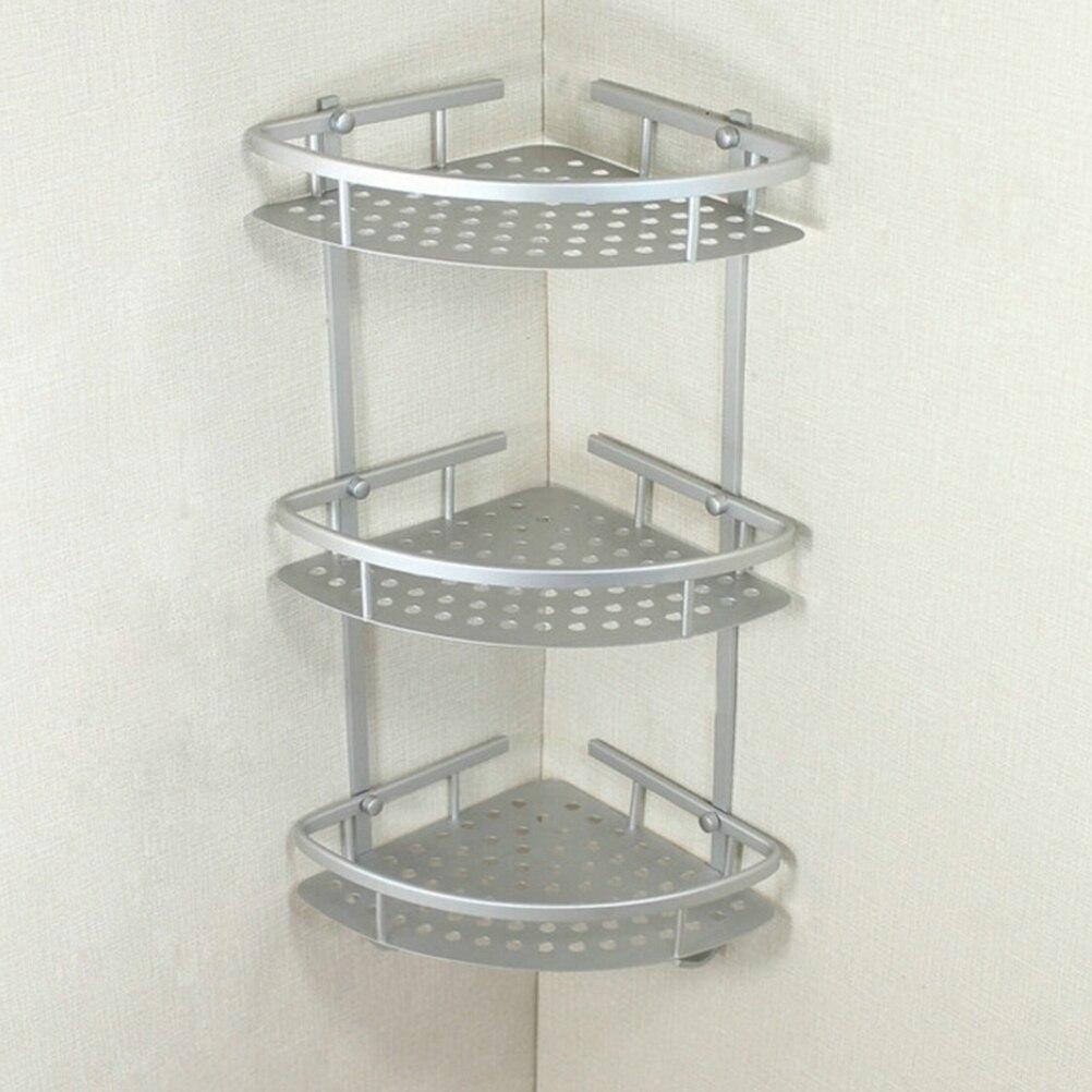 aluminum bathroom shelf 3 tiers bath shower shelf bath shampoo holder basket holder corner shelf chrome
