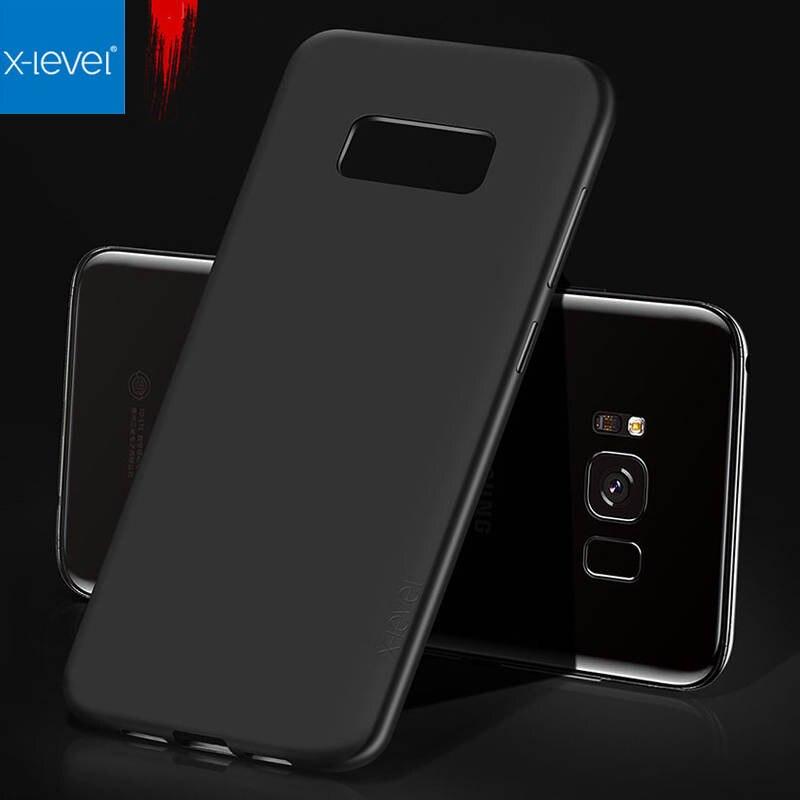 X-level Untuk Samsung S8 Plus Kasus Merek Mewah Slim Matte Lembut - Aksesori dan suku cadang ponsel - Foto 1