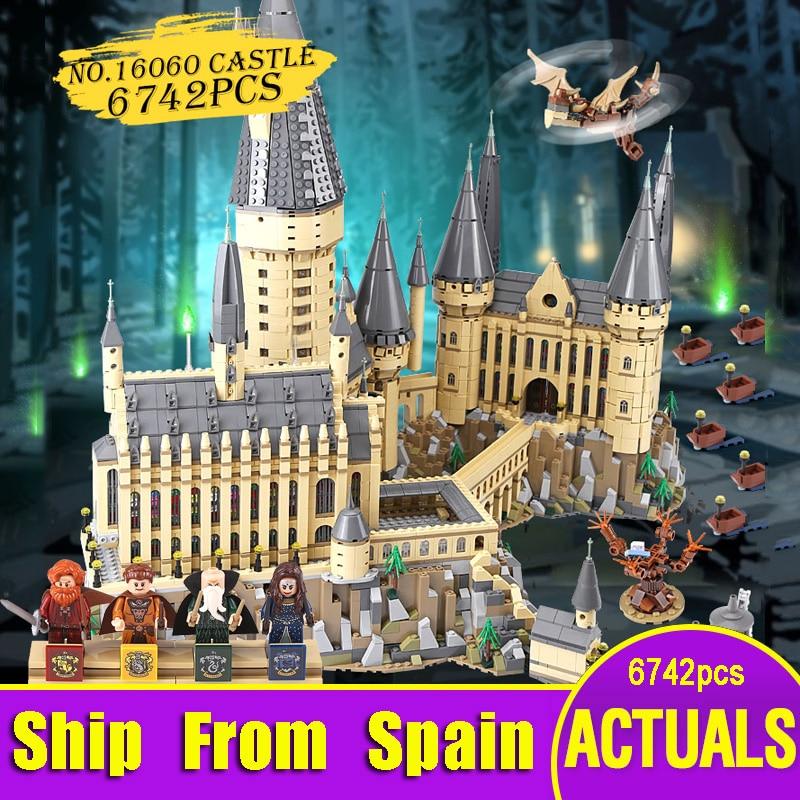 Bateau de l'espagne Lepin 16060 Harry série de films les Legoinglys 71043 poudlard château ensemble blocs de construction briques maison modèle jouets