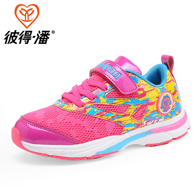 Girls Sport Shoes Breathable Leather Boys Girls Running Shoes Nonslip Kids Sneakers Children Shoes