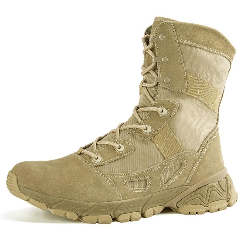 ผู้ชายใหม่กลางแจ้ง Hiking Boots รองเท้าหนังกีฬารองเท้ากันน้ำกันน้ำ Anti Slip Mountain บูทจัดส่งฟรี บน   1